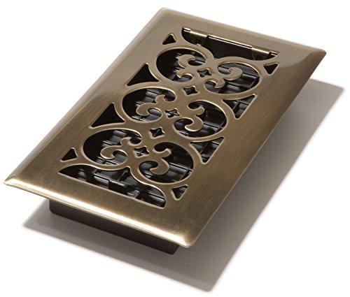 Decor Grates SPH408-A Floor Register, 4x8, Antique Brass