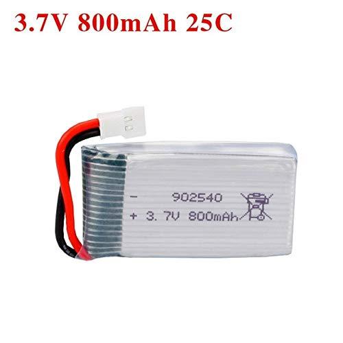 OUYBO 3.7v 30c 800mAh 902540 Lipo batería for Syma X5 X5c X5sc X5sw X5hw X5uw Cx-30 Tianke M68 Rc QuadCopter piezas de repuesto 3.7V Accesorios de batería de piezas RC (Color : White)