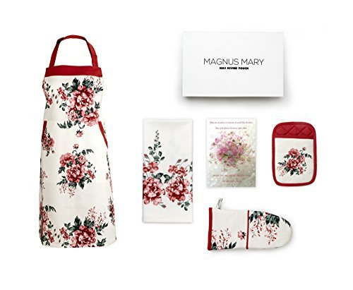 Perfect Present For Mothers, Ideal Mothers Kitchen Linen Set. Set Include Greeting Card, Bib Apron,...