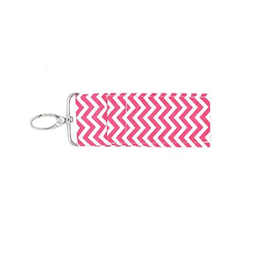 Mode Mini Chapstick Pouch Porte-clés Rouge À Lèvres Porte-clés Accessoires De Voyage Coton