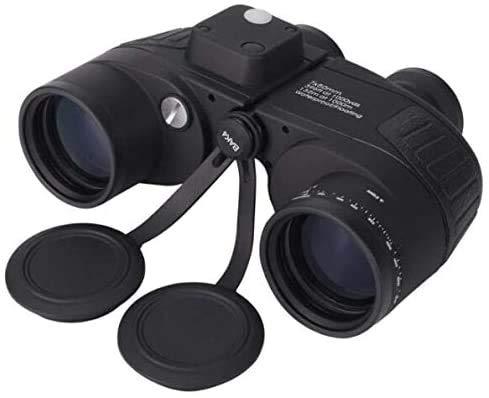 Baibao 7x50 binoculares, Impermeable Prueba de Niebla Marina binoculares con telémetro Interno brújula for la navegación, la navegación, Pesca, Deportes acuáticos