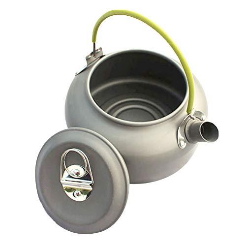 XdiseD9Xsmao Draagbare Durable 0,8 l aluminium theepot koffiezetapparaat voor picknick camping buitenshuis, keukengerei met tas voor snel koken, inklapbare greep Veelzijdig te gebruiken.