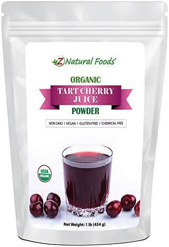 Organic Tart Cherry Juice Powder Joint Sleep Support Superfood Supplement Mix In Drinks Shakes product image