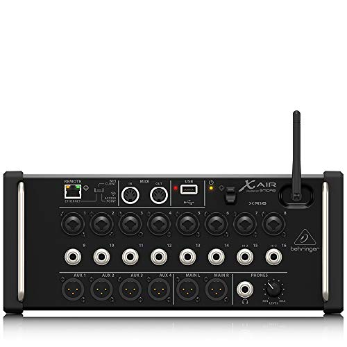 Behringer XR16 Remote Controlled Digital Mixer X AIR 16