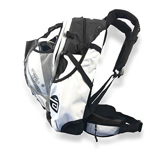 CADOMOTUS Airflow Sportrucksack 30+15L - Fahrrad Rucksack - MTB Rucksack - Inline Skater Rucksack Erwachsene - Ultraleicht und mit Rückenbelüftung, Helmfach und Schuhfach - Schwarz