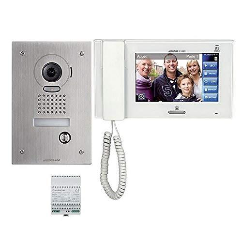 AIPHONE - Kit de vídeo a color antivandal con zoom y memoria, platina empotrable