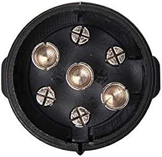 stekker PVC 7-polig zwart kabelschoenaansluiting