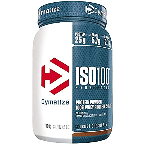 Dymatize ISO 100 Gourmet Chocolate 900g - Hydrolysat de Protéines de Whey + Poudre d'Isolat