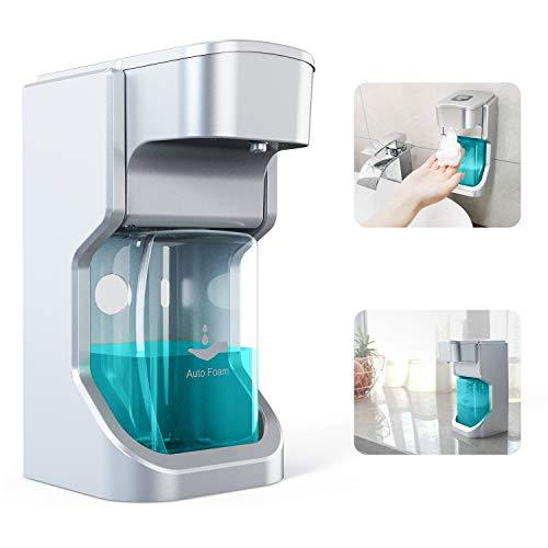LUBEX Automatisch Seifenspender Sensorspender, 500 ml Hohe Kapazität No Touch Seifenspender, Automatischer Schäumende Seifenspender mit 2 Einstellbare Schaummenge für Bad und Küche