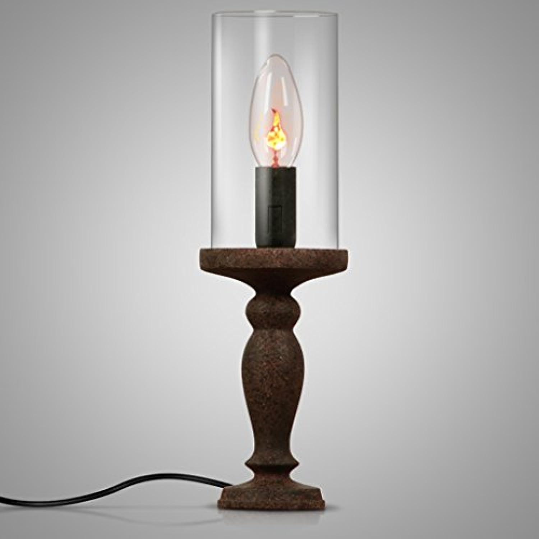 Retro Kerze Tischlampe Kunst Kerzenstnder Nordic Wein Tisch Schlafzimmer Nachttischlampe (gre   B)