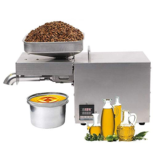 hzexun Commercial Oil Press Machine Automatic Oil Press Extractor for Peanut Sunflower Walnut Flaxseed Hemp Perilla Sesame Seeds