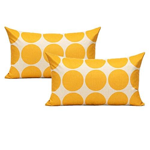 ZQLXD Juego de 4 fundas de almohada para patio al aire libre, fundas de almohada decorativas de muebles de interior, 18 x 18 cm, para el hogar, porche, silla, sofá, sala de estar, color naranja
