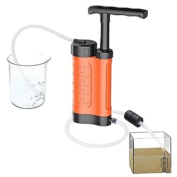 Filtre à eau, filtre à eau portable Abs de 3000 ml, purificateur d'eau pour extérieur, filtre de survie de haute efficacité pour survie en sports de plein air (orange)