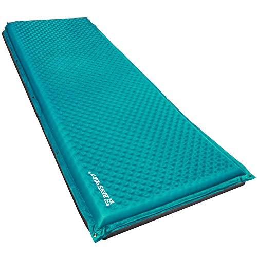 Bessport Selbstaufblasende Isomatte, mit Tragetasche und 5cm Dicke Camping Isomatte Schlafmatte, ideal für Hängematte und Zelt Schlafsack Outdoor Wandern-58CM Breite