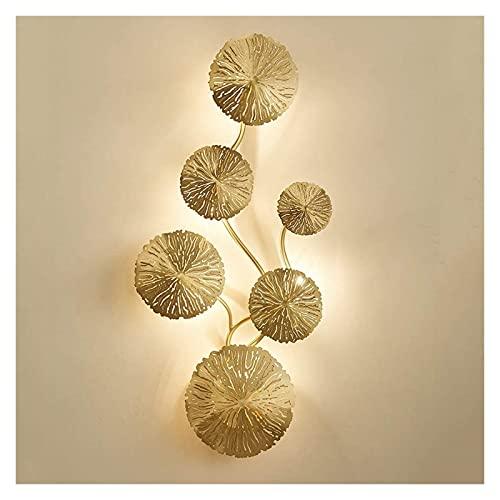 MUBAY Creativo Lámpara de Pared Interior Moderno G4 Luces de Pared de latón Modernas de Pared Creativa Luces Luces 6 Sombra Redonda Corredor Decorativo decoración de Cocina iluminación de iluminación