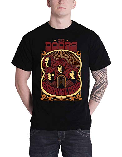 The Doors T Shirt Strange Days Vintage Poster Band Logo Official Mens Black Size L