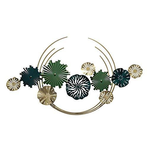Gymqian M de Metal Arte de la Pared, Extracto de la Flor Tridimensional de Decoración de la Pared de Hierro Forjado, Inspirada en la Naturaleza Escultura de Metal Decorativo, Interi