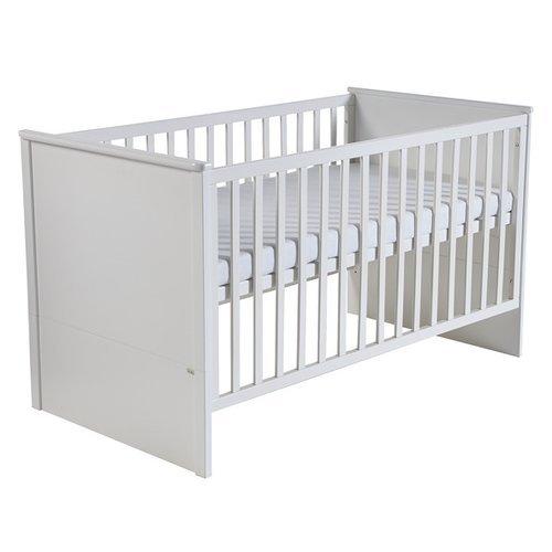 roba Kombi Kinderbett 'Castello', Babybett 3-fach höhenverstellbar, Baby- umbaubar zum Juniorbett, 70x140 cm, weiß