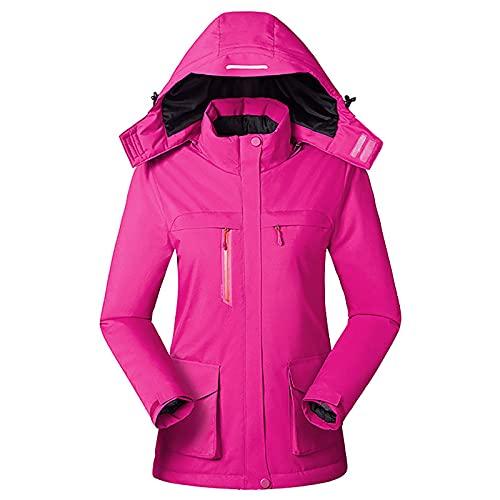 Winter Intelligente Heizjacke USB Aufladen Damen Beheizter Mantel Outdoor Fleece Weibliche Winddichte Kletterkleidung,Female Rose,M