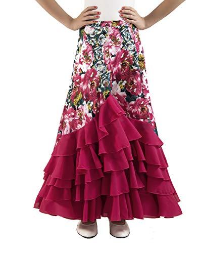Falda flamenca fucsia 🖤