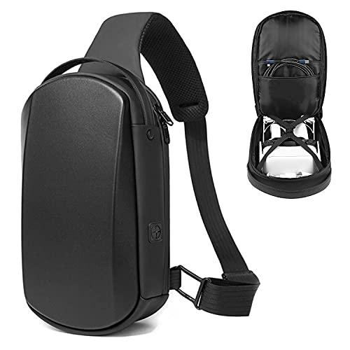 TyaSoleil Oculus Quest 2 funda, VR bolsa de transporte de hombro mochila para auriculares, Halo Elite correa y accesorios (negro)