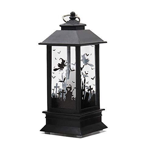 Wankd Halloween Kerze mit LED Teelicht Kerzen | Lichterketten Innen Außen Deko Lichter für Partys Garten Hochzeiten Aussen Dekoration (Schloss)