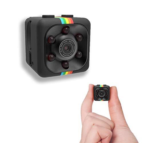 超小型スパイ隠しカメラ 4K HD高画質長時間録画/録音カメラ USB充電 屋外/屋内用 ミニ携帯型防犯監視カメラ 遠隔操作 動体検知 暗視機能