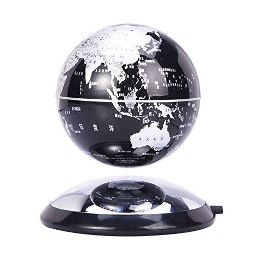 Lámpara magnética de levitación de globo 360 grados giratoria flotante mapa del mundo decoración del hogar Festival regalo de cumpleaños niños educación día de San Valentín, modelo 011911, A