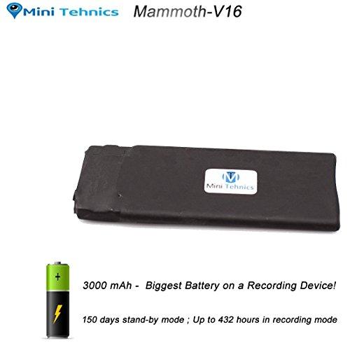 Grabadora de voz digitale MiniTehnics (Mammoth 18 days battery)
