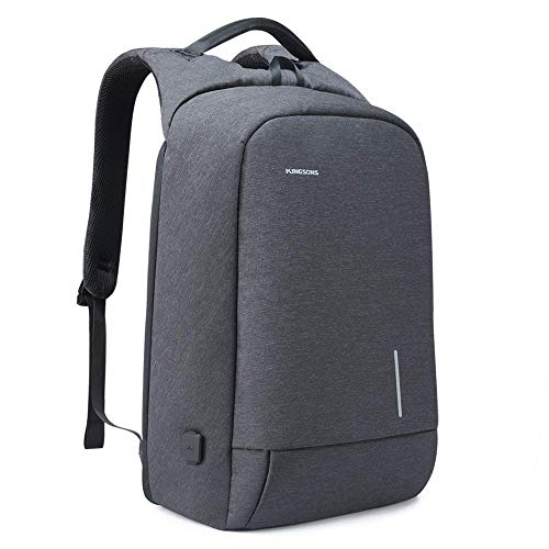 Kingsons Pack Pro Lightweight Traveling Laptop Backpack, Business Computer Bag Slim Laptop Rucksack 15.6' with 2.0 USB Charging Port TSA Lock Anti Theft Bag Water Resistant for 15.6-Inch Laptop Bag