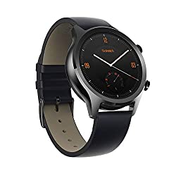 Stainless steel case paired with genuine leather straps highlight a classic watch design NFC contactless payments Multi-navigational system (GPS, GLONASS, Beidou) for responsive and precise positioning 24hr heart rate monitor
