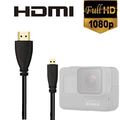 DFIEER High Speed HDMI HD Video Cable for Gopro Hero 7 6 5 4 Fusion Black Silver 3+ 3 and Sjcam Sj4000 Sj5000-5feet/1.5m (Pack-1)