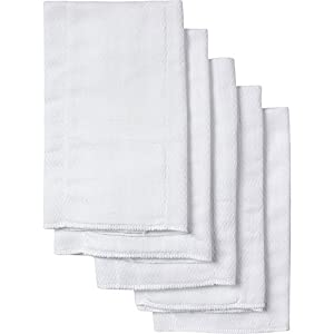 Gerber 5 Count Organic Birdseye Prefold Cloth Diaper, White