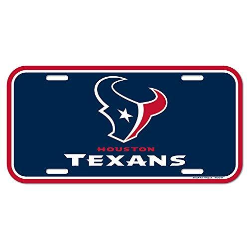 NFL Houston Texans Nummernschild, Team-Farbe, Einheitsgröße