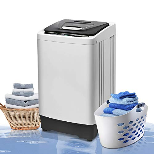 Portable Washing Machine Full Automatic Washer Top Load 1.54 Cu.ft, Greenvelly Compact Laundry Washer and Dryer Combo, 2 in 1 Cloth Washer with LED Display for Apartment, Home, Dorms