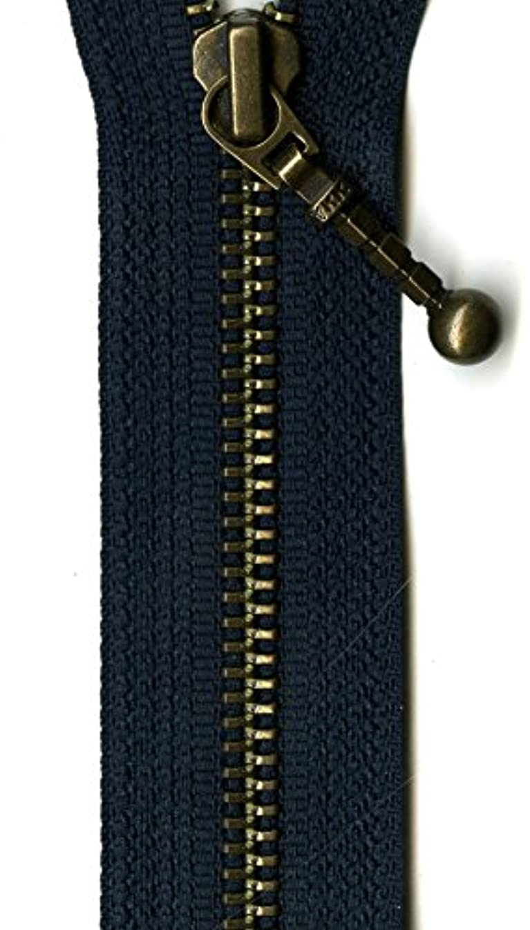 YKK Antique Brass 1-Way Separating Zipper, 26