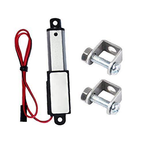Newin Star Micro Mini Actuador Lineal Actuador Lineal con Soportes Impermeable con Soportes de Montaje 12V 60N Longitud de Carrera de 30 mm 15 mm Velocidad