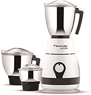 Butterfly Pebble 600-Watt Mixer Grinder with 3 Jars 110volt for USA and Canada