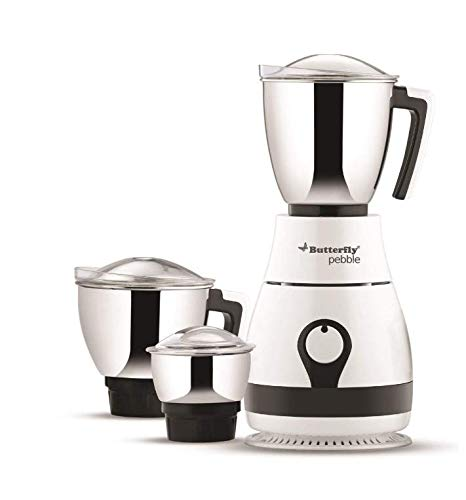 Butterfly Pebble 600-Watt Mixer Grinder with 3 Jars 110volt for USA...
