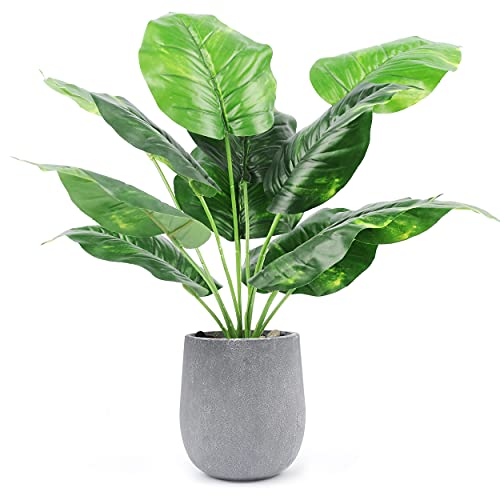 Der Rose 16' Small Fake Plants Artificial Mini Potted Faux Plants for Office...