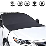 Ylife Windshield Snow Cover,Car Windshield Snow Cover for Ice and Snow Fits for Cars,SUV,Van,Windshield Snow Cover Magnetic Defense Snow, Ice, UV and Fros (Large)