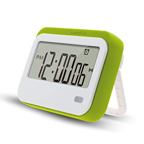 Digital Kitchen Timer , Alarm Clock ,Stopwatch,Large Digits,Loud Alarm, Mute Blinking Light and Magnetic Stand .Kitchen Timer, Classroom Timer... (Green)