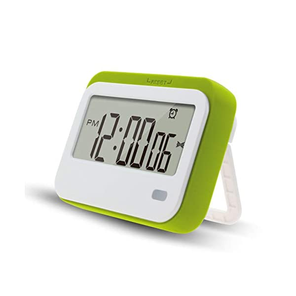 Digital Kitchen Timer , Alarm Clock ,Stopwatch,Large Digits,Loud Alarm, Mute Blinking Light and Magnetic Stand .Kitchen Timer, Classroom Timer. (Green)