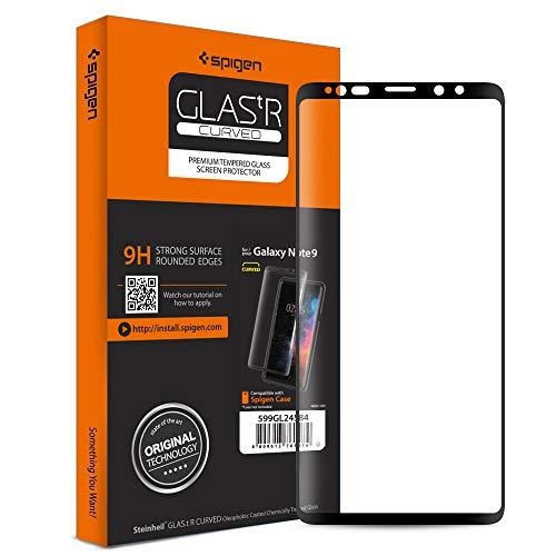 Spigen, Samsung Galaxy Note 9 Panzerglas, Glas.tR 3D Curved, HD vollständige Abdeckung, Hüllenfreundlich, Kompatibel Galaxy Note 9 Hüllen, Antikratz, Anti-Fingerabdruck (599GL24584)