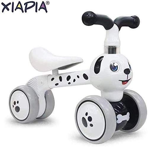 XIAPIA Baby Toddler Tricycle Bike No Pedals 10-36 Months Ride-on Toys Gifts Indoor Outdoor Balance Bike for One Year Old Boys Girls First Birthday (Spot Dog)