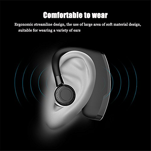 Hulorry Sport Earphones, Bluetooth Noise Cancelling Business Headphones with Mic Handfree Earphones for Gym Office Running Workout for All Bluetooth Devices