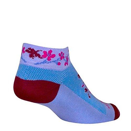 SockGuy Damen-1in Blossom Radfahren/Laufen Socken, Damen, Blossom, Medium