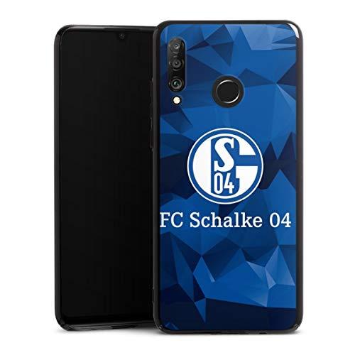 DeinDesign Hard Case kompatibel mit Huawei P30 Lite Schutzhülle schwarz Smartphone Backcover FC Schalke 04 Muster Offizielles Lizenzprodukt