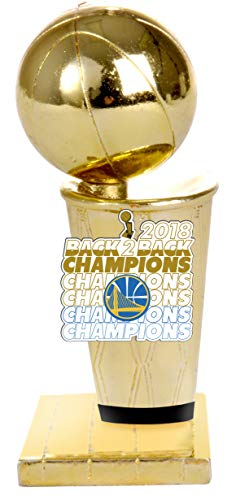 NBA Golden State Warriors 2018 NBA Back To Back Champions Mini Trophy Paperweight