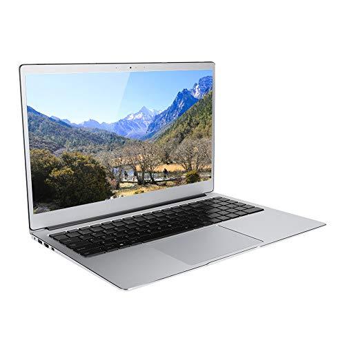 Laptop ultradelgada, pantalla IPS 1080P de ángulo de visión amplio de 15,6 pulgadas, memoria DDR4 de 8 G, SSD de estado sólido de 512 G, teclado retroiluminado, procesador J4115, para WIN10(Silver)
